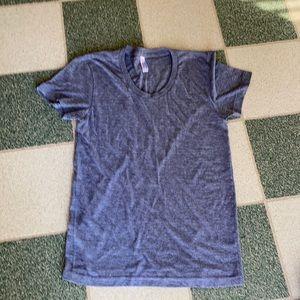 Grey, American Apparel slim fit T shirt
